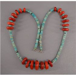 TURQOUISE AND SHELL NECKLACE