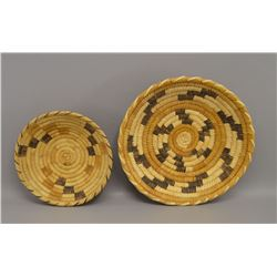 TWO PAPAGO INDIAN BASKETRY BOWL