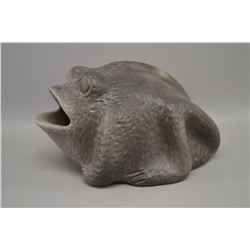 NATIVE AMERICAN CHEROKEE POTTERY FROG BY COSS HICKS