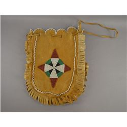 NATIVE AMERICAN PLAINS BEADED BAG