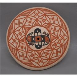 NATIVE AMERICAN ACOMA POTTERY SEED JAR BY MILDRED ANTONIO