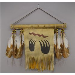 NATIVE AMERICAN PLAINS WALL HANGING BY BRIDGIT EAGLE FEATHER