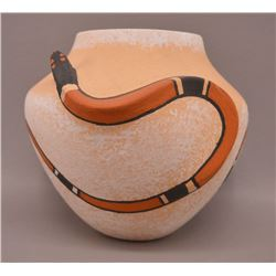 NATIVE AMERICAN ZUNI POTTERY BOWL BY T ADAAKIE
