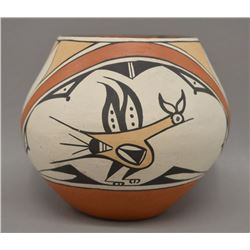 NATIVE AMERICAN ZIA POTTERY BOWL BY C G SHIJE