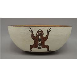 NATIVE AMERICAN ZUNI POTTERY BOWL BY NELLIE BICA