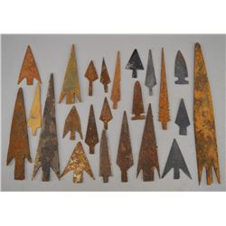 COLLECTION OF METAL ARROWHEADS