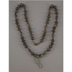 NATIVE AMERICAN NAVAJO SILVER BEAD NECKLACE