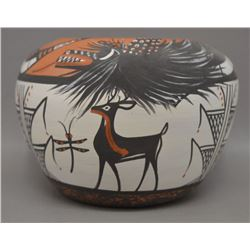NATIVE AMERICAN ZUNI POTTERY BOWL BY DARRELL WESTIKA