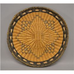 NATIVE AMERICAN HOPI BASKETRY PLAQUE