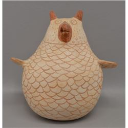 NATIVE AMERICAN ZUNI POTTERY OWL BY ELOISE WESTIKA