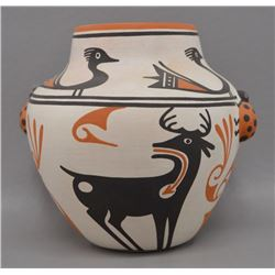 NATIVE AMERICAN ZUNI POTTERY VASE BY EILEEN YATSATTIE