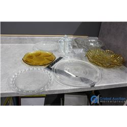 Clear Glass Collection - (2) Amber Glass