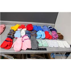 Knitted Mittens - Various Sizes