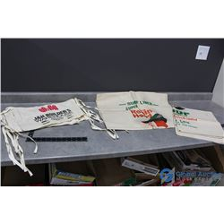 (2) Robin Hood Flour Bags & (6) J&H Builder Aprons