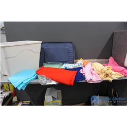**Bucket of Fabric Linens