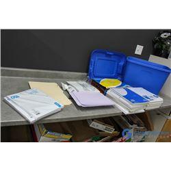 **Bucket of Paper & Files