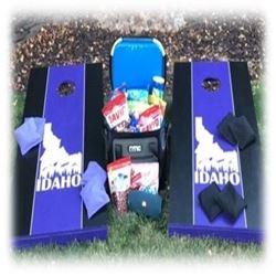 Custom Corn Hole, Paddleboard, JBL Speaker, Cooler & Snacks - Value $1000