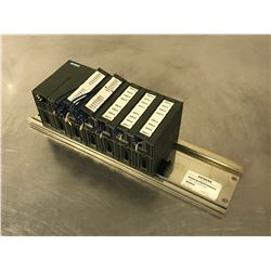 SIEMENS S7-300 6E7S 361-3CA01-0AA0 INTERFACE RACK W/ I/O MODULES