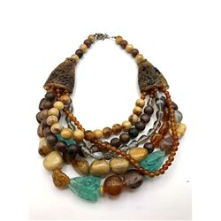 GORGEOUS VINTAGE EARTH TONED AFRICAN STYLE