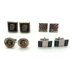 4-PAIRS OF VINTAGE MENS CUFF LINKS