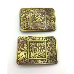 2-VITNAGE GOLD TONED FLORAL DESIGN MENS