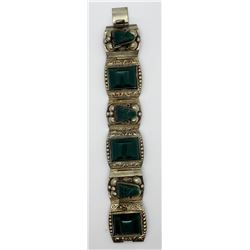 TAXCO STERLING AZTEC PANEL BRACELET WITH