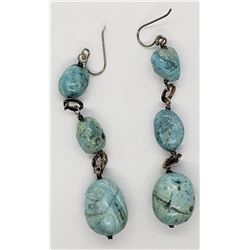 GORGEOUS STERLING DANGLY EARRINGS WITH