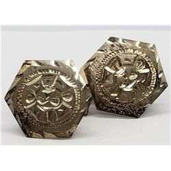 VINTAGE STERLING MEN'S CUFF LINKS WITH