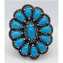 AMERICAN WEST SLEEPING BEAUTY TURQUOISE CLUSTER