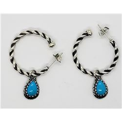 AMERICAN WEST STERLING HOOP EARRINGS WITH