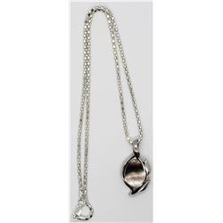 18 INCH FAS STERLING BOX CHAIN NECKLACE WITH BLE