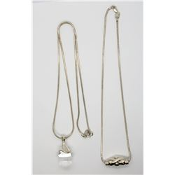 2-STERLING NECKLACES/CHAINS (1)W/ RLS THAILAND