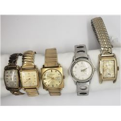 5-MENS VINTAGE WRIST WATCHES