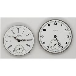 2-POCKET WATCH MOVEMENTS FOR PARTS