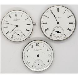3-POCKET WATCH MOVEMENTS FOR PARTS
