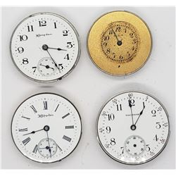 4-POCKET WATCH MOVEMENTS FOR PARTS