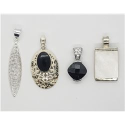 4-STERLING PENDANTS-ALL DIFF STYLES