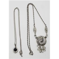 VINTAGE VAN DELL STERLING NECKLACE WITH CZ