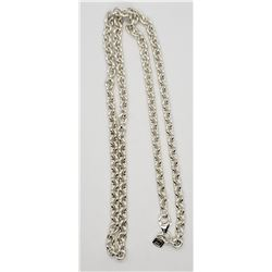 20 INCH USA STERLING LINKED NECKLACE/CHAIN