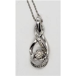 GORGEOUS!!! 925 STERLING NECKLACE WITH PENDANT
