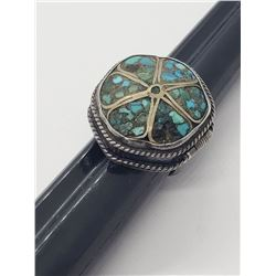 VINTAGE NATIVE AMERICAN POISION RING WITH