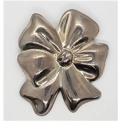 MEXICO STERLING BOW BROOCH