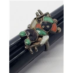 SIZE 6 ZUNI RING WITH INLAY DESIGN!!! NICE!!