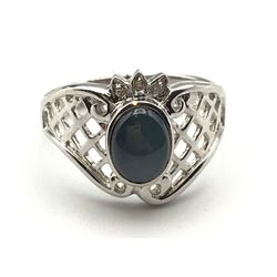 14K DIAMOND RING W STONE
