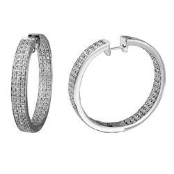 2.15 CTW Diamond Earrings 14K White Gold - REF-222N5Y