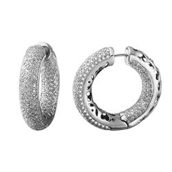 5.72 CTW Diamond Earrings 14K White Gold - REF-461K2W
