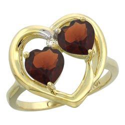 2.60 CTW Garnet Ring 10K Yellow Gold - REF-23V7R