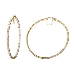 9.67 CTW Diamond Earrings 14K Yellow Gold - REF-619R3K
