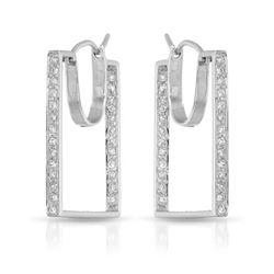0.56 CTW Diamond Earrings 14K White Gold - REF-53F9N