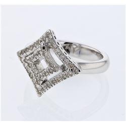 0.38 CTW Diamond Ring 14K White Gold - REF-50F8N